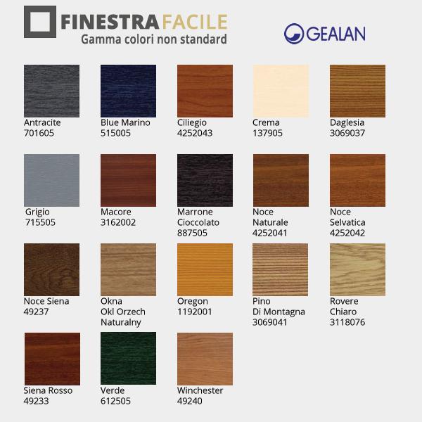Colori finestre pvc for Finstral listino prezzi