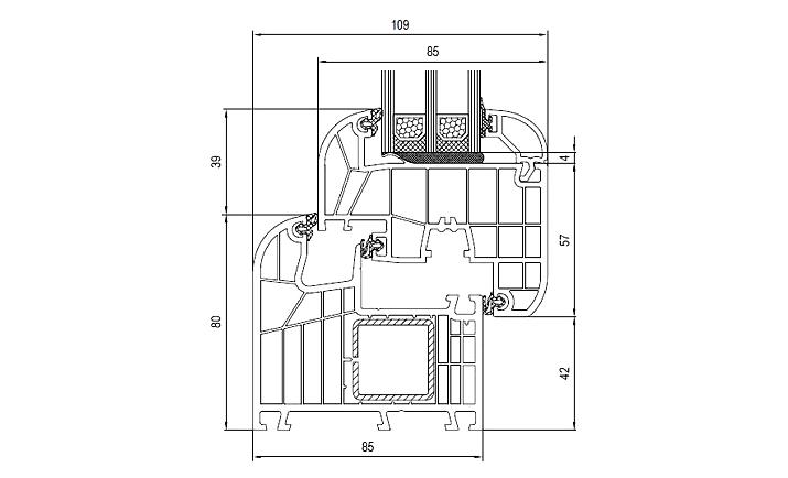 Aluplast ideal 8000 a 180 al mq for Dimensioni finestre velux nuova costruzione