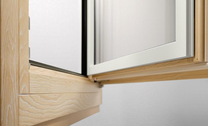 Optimum 86 legno alluminio da 290 al mq for Finestre legno pvc