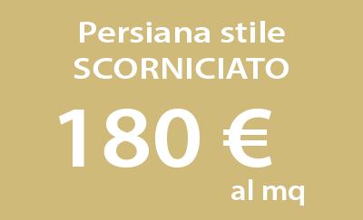 Persiana stile scorniciato a 180 al mq for Prezzo finestre pvc al mq